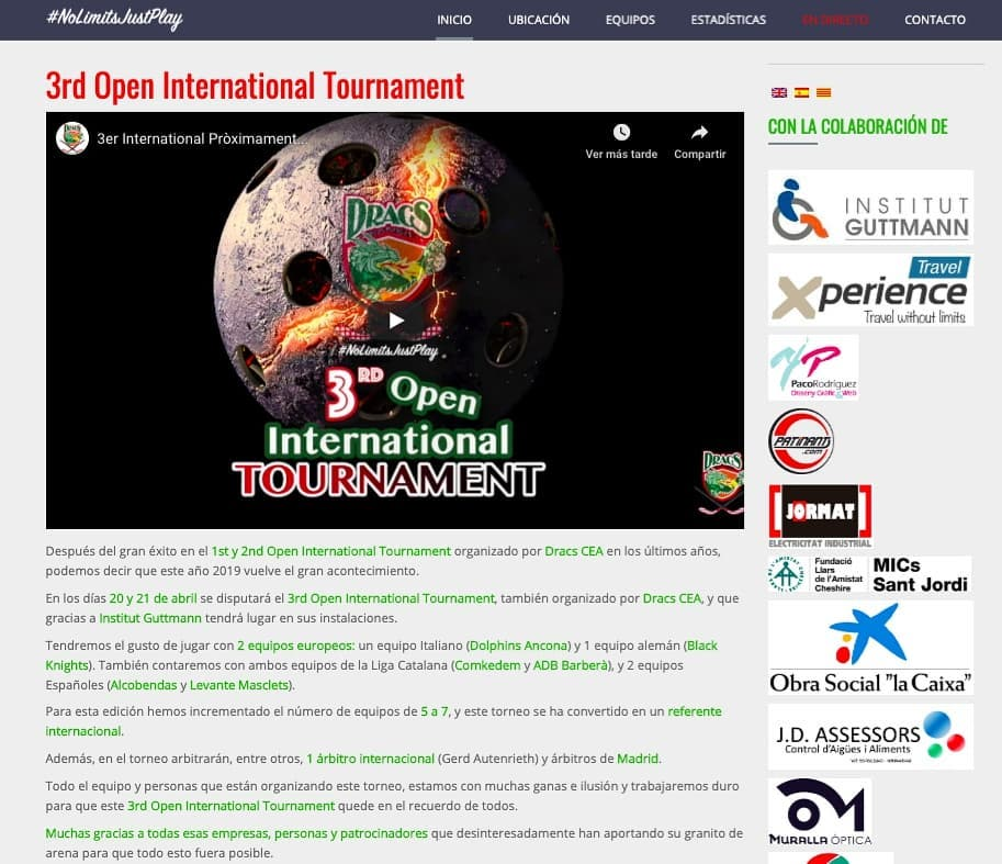 We already have web for next international tournament